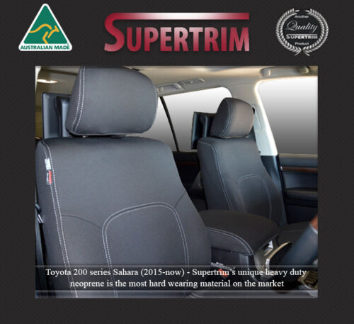 Waterproof Neoprene FB + MP Seat Cover fits Toyota Landcruiser 200 Series Front
