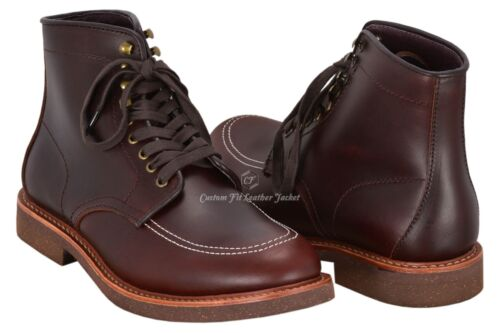 Indy Boots Indiana Jones Movie Inspired Real Leather Dark Brown High Ankle Boots