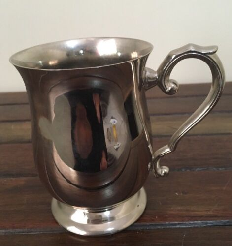 Silver Plated Cup With Decorative Handle Polished