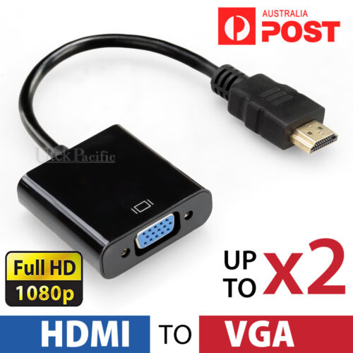 HDMI Male to VGA Female 1080p Adapter Cable Converter Chipset Built-in