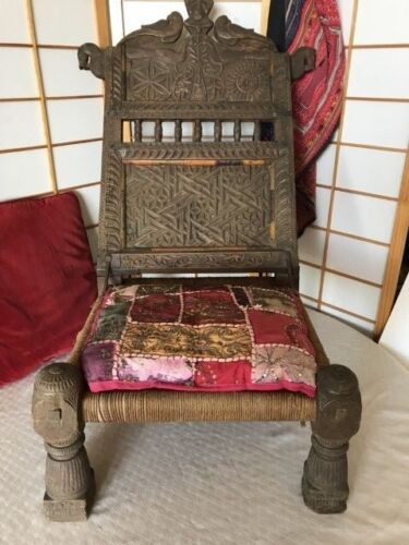 Tribal Antique Carved Wooden Chair Northern Pakistan  …beautiful collection /...