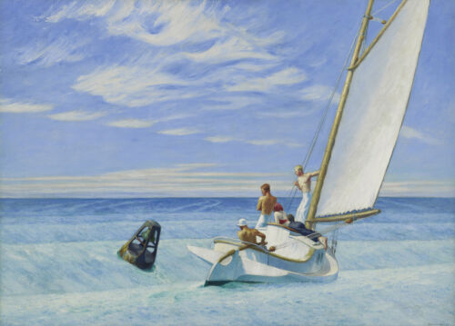 Ground Swell  by Edward Hopper   Giclee Canvas Print Repro