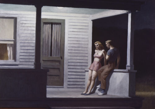 Summer Evening  by Edward Hopper   Giclee Canvas Print Repro