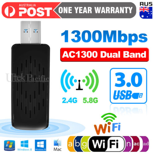 1200Mbps USB 3.0 Wireless WiFi Network Receiver Adapter 5GHz Dual Band Dongle