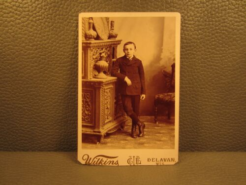 Victorian Antique Cabinet Card Photo of a Young Boy, Kid, Child