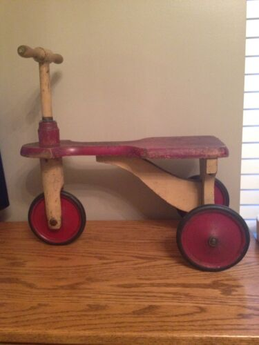 Antique KIDDIE-KAR Trike / Scooter Toy By H.C. White Company U.S.A. Patent 1918