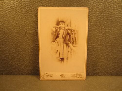 Victorian Antique Cabinet Card Photo of Young Girl