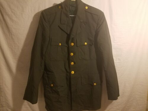 USED ARMY CLASS A JACKET SERGE GREEN 40 CHEST x 17 1/2 SLEEVE DEFECT VERY WORN Army - 66529