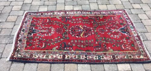 Antique Hand-knotted Borchelu Wool Rug... Beautiful Colors.