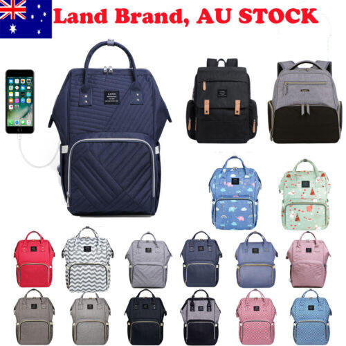 Multifunctional GENUINE LAND Large Baby Diaper Backpack Mummy Nappy Changing Bag <br/> 100% Genuine! Free changing mat or pram hook or etc