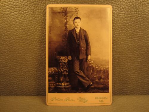 Victorian Antique Cabinet Card Photo of Young Boy, Child, Kid
