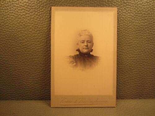 Victorian Antique Cabinet Card Photo of an Older Woman