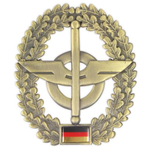 Genuine German Forces Cap Or Beret Metal Badge Laurel Insignia Military Faulty