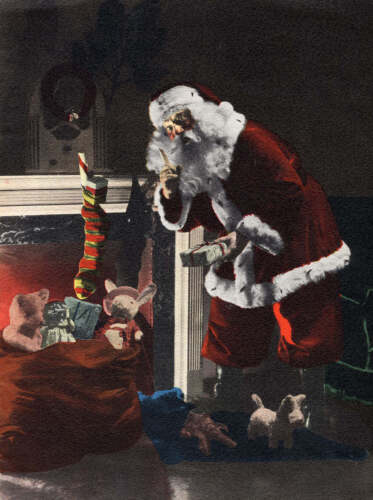 Picture of Santa Fireplace from the 1930s
