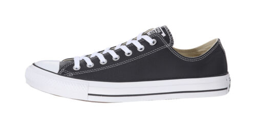 Converse Shoes Chuck Taylor All Star Low Top Black Leather Mens Womens Sneakers