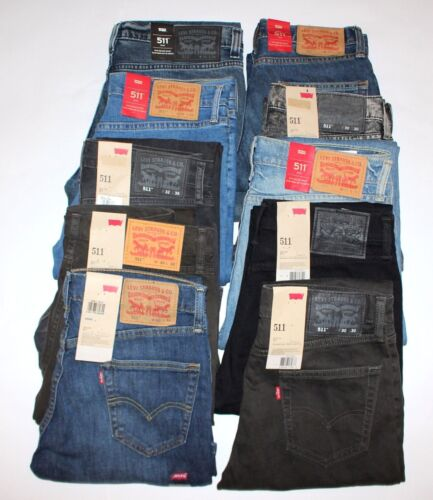 <New Inventory>Levi's 511 Men Slim Jeans W28-42in L29-36 RRP £95 *ClearOut Sale*