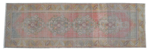 Oushak Runner Rug Hand Knotted Distressed Fashion HALLWAY DECOR 2'12'' x 9'4''
