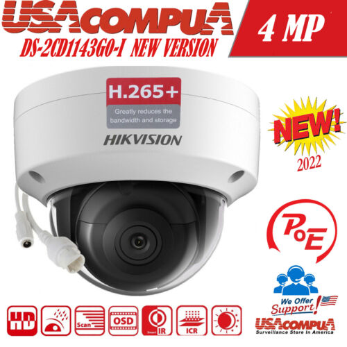Hikvision 4MP POE IP  DS-2CD1141-I 2.8mm  Dome Network Camera 2Axis (ORIGINAL)
