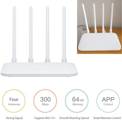 Xiaomi Router 4C 4 Antenna 2.4G 300Mbps 64MB APP Control WiFi Wireless Router