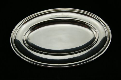 """1850 CHRISTOFLE HOTEL OVAL TRAY FISH VEGETABLE MEAT SILVERPLATED FRANCE 10.1/2"""""""