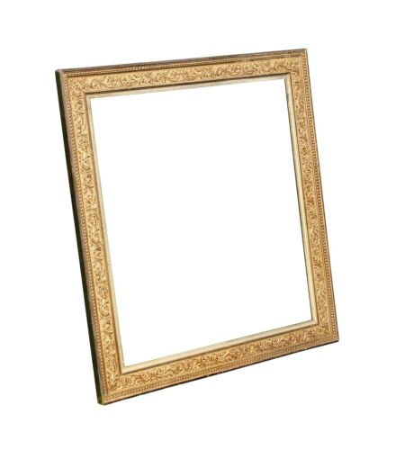 """Large Antique Gold Gilt Picture Frame, 28 7/8"""" X 32 1/8"""" Overall"""