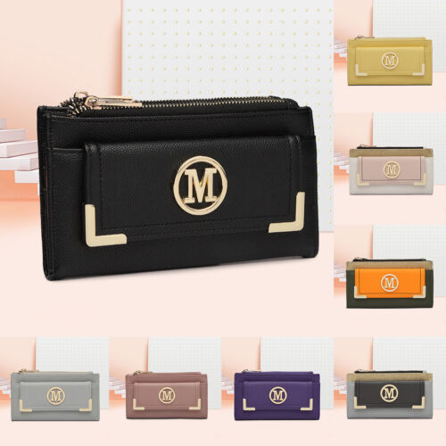 Fold Over Multi Compartment Wallet Ladies Designer PU Leather Purse Card Package