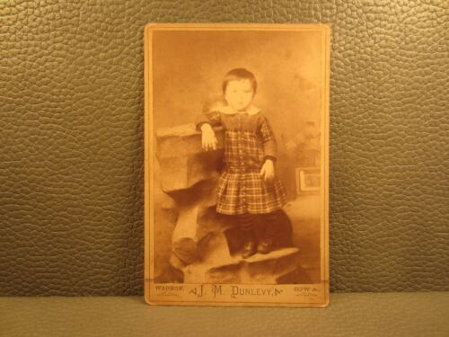 Victorian Antique Cabinet Card Photo of Young Girl, Kid, Child