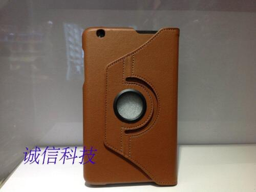 """Cover Rotate for LG G Pad 8.3"""" V500 Tablet 360 Folio Leatheroid Stand Case brown"""