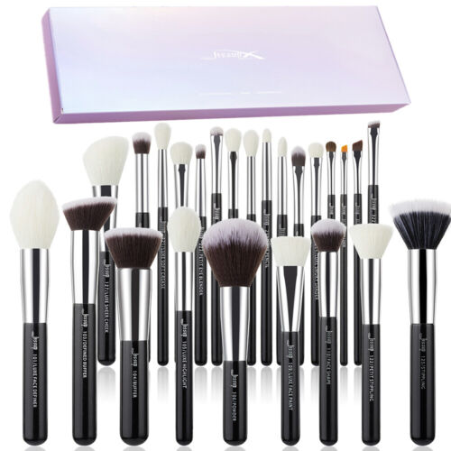 AU Jessup Professional 25Pcs Cosmetic Brush Set Powder Foundation Eyeshadow Tool <br/> 3-5 Days Delivery✔Makeup Natural-Synthetic Hair