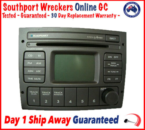 Genuine Holden Commodore VY VZ Grey Stereo Head Unit CD Player 2 Din Factory Sto