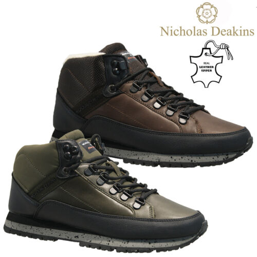 MENS NICHOLAS DEAKINS FUR LEATHER DESERT HIKING CHUKKA ANKLE WALKING BOOTS SHOES