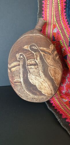 Old Australian Aboriginal Carved Kimberley's Boab Nut …beautiful signed collecti