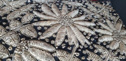 Old Silver Embroidered Clutch Bag …beautiful accent piece