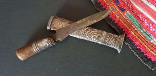 Old Burmese Dha Dagger with Silver Sheath …beautiful collection piece