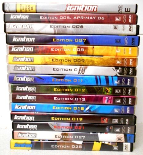 15 x IGNITION AUST DVDs Various Nos 3-28  VGC to Like New - Cars Sport  R4 Aust