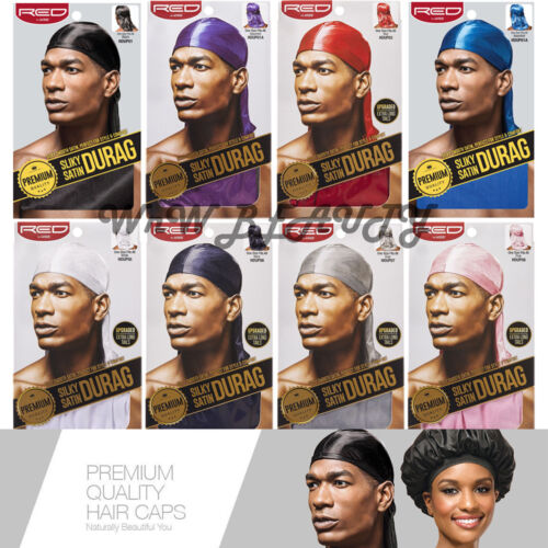 [2 PACK] RED BY KISS Premium Silky Satin Durag HDUP Series (Pick your 2 colors)