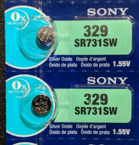 2 Pack Sony 329 (SR731SW) 1.55V Silver Oxide Watch Battery (2 Batteries) USA