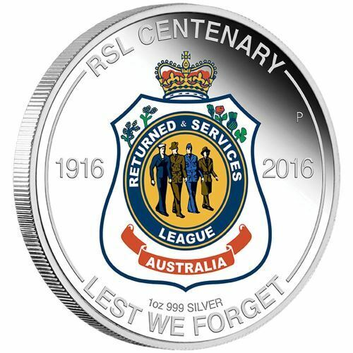 NEW Perth Mint RSL Centenary 2016 1oz Silver Proof CoinDecimal - 3372