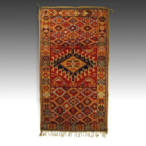 PILE CARPET TAZNAKHT MOROCCO NORTH AFRICA TRIBAL WOOL TEXTILES 20TH C.