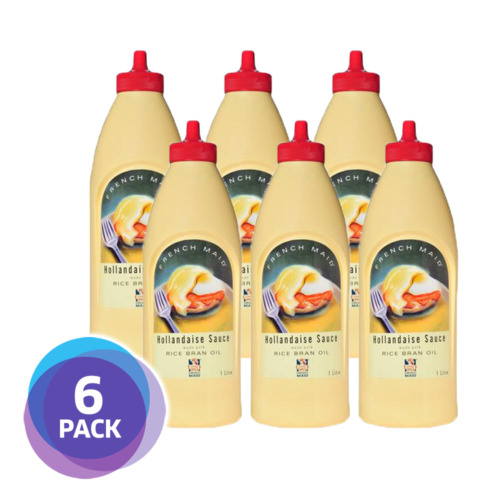 [6 PACK] French Maid Hollandaise Sauce 1L   Handy Squeeze Bottle