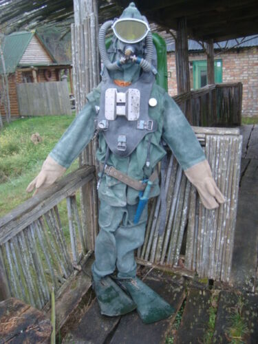 Soviet Russian diving combat diver rebreather Ida71+suit,fins,knife,shirt