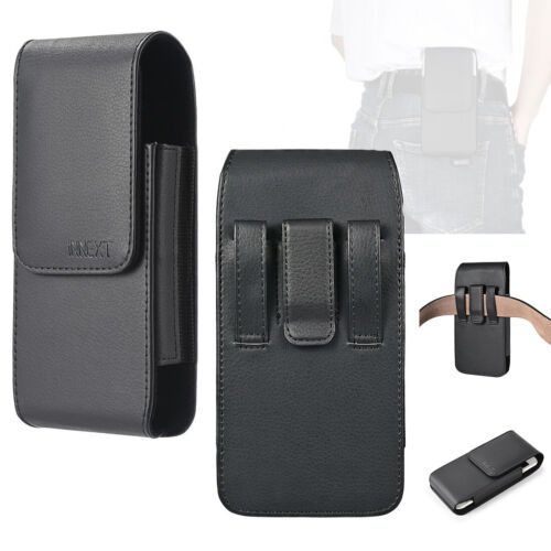 Vertical Leather Belt Clip Holster Pouch Case Cover for XL Phone with Outer Box