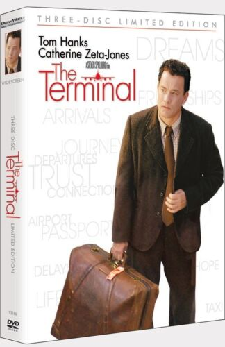 THE TERMINAL Tom Hanks 3 DVD Limited Edition BOX FREE Post mmoetwil@hotmail.com