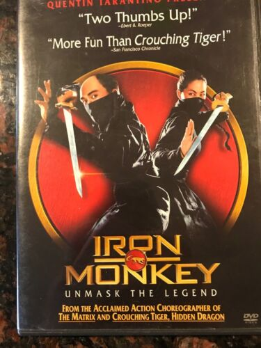 IRON MONKEY Unmask The Legend Q.Tarantino NEW DVD FREE POST mmoetwil@hotmail.com