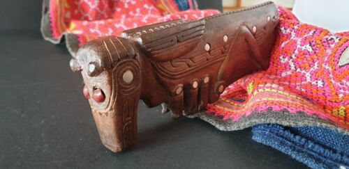 Old Papua New Guinea Trobriand Islands Carved Wooden Grasshopper
