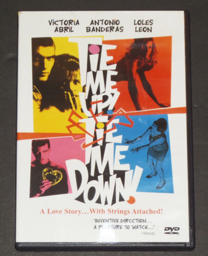 TIE ME UP TIE ME DOWN  V.Abril A.Banderas NEW DVD FREE POST mmoetwil@hotmail.com