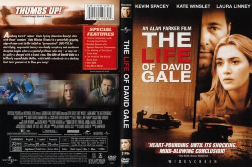 THE LIFE OF DAVID GALE avec Kevin Spacey NEW DVD FREE Post mmoetwil@hotmail.com