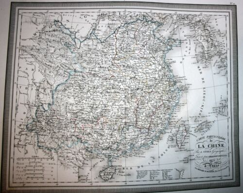 China, Korea,Taiwan( Formose), large copper engraved map by L. Vivien, 1825