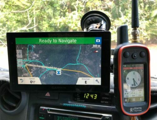 RAM MOUNT- Dual windscreen Drivetrack & Astro/Alpha mounts with GPS slide con...