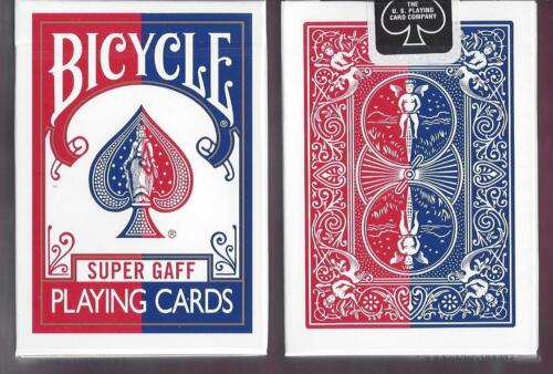 1 DECK Bicycle Super Gaff V2 (red) playing cards FREE USA SHIPPING!